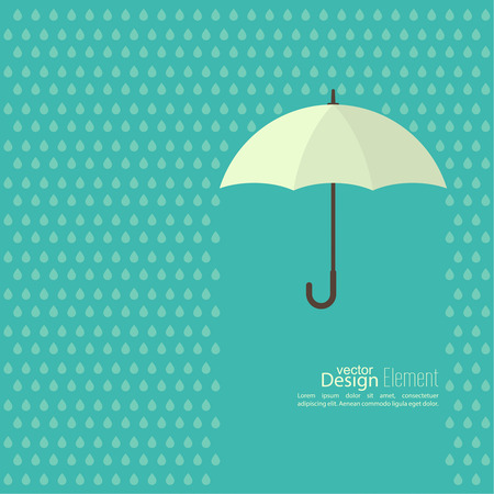 torrential rain: Abstract background with  umbrella and rain. protection and safety concept. falling drop