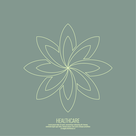 massage herbal: Abstract vector logo element. Lotus flower. Icon for beauty, healthcare, wellness, fashion, cosmetic, perfume, yoga emblem, herbal product, spa, massage salon. delicate color