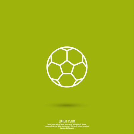 soccerball: Vector icon of a soccer ball on a green background. football. For web and mobile applications.