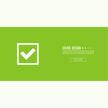 green tick: Set of vector buttons with check marks or ticks. checkbox. Web and mobile applications. acceptance positive passed voting. Green. template, layout Illustration