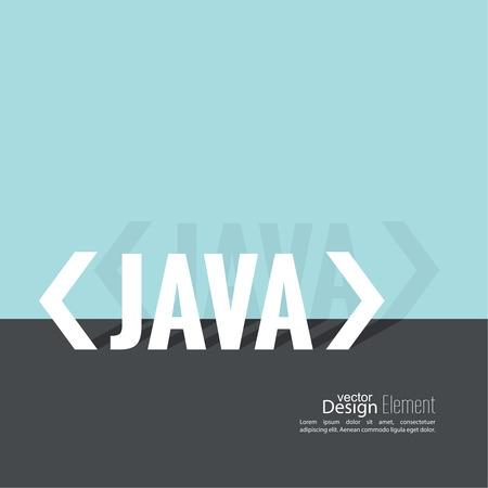 slash: Progrmming code vector. Closing brackets and slash, java. Operator in a programming language. Flat design with shadow. Illustration