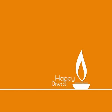 lit lamp: Abstract background with oil lit lamp with rangoli for Diwali celebration. Vector Happy  Diwali