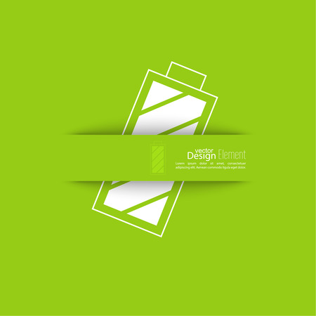 rechargeable: The battery icon with a full charge. charging the battery. Icon Battery. Abstract background with rechargeable battery. Illustration