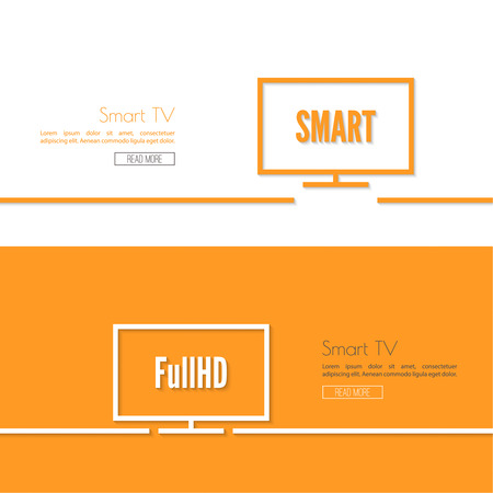 hdtv: Vector black tv icon set. TVs with different standards. Illustration