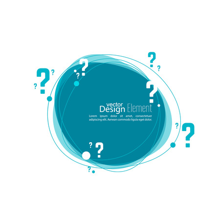 help symbol: Question mark icon. Help symbol. FAQ sign on background. vector. Banner roundish form