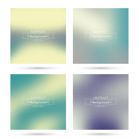 mauve: Set vector colorful abstract backgrounds blurred. For mobile app, book cover, booklet, poster, web sites, annual reports. blue, indigo, turquoise, yellow, green, purple, mauve, violet, magenta