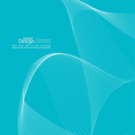 techno: Abstract techno background with lines in waves. Technology, technical vector. Futuristic high tech design for scientific cover book, brochure, flyer, poster, magazine, website. Blue
