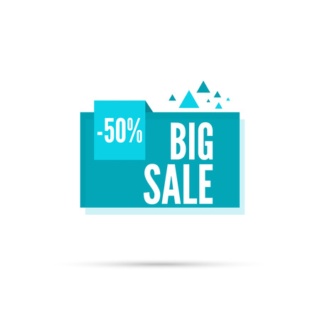discount tag: Sale banner. Vector tag. special offer, discount, price. 50 percentage.  Big sale