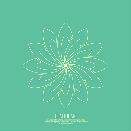 massage herbal: Abstract vector   element. Lotus flower. Icon for beauty, healthcare, wellness, fashion, cosmetic, perfume, yoga emblem, herbal product, spa, massage salon. delicate color Illustration