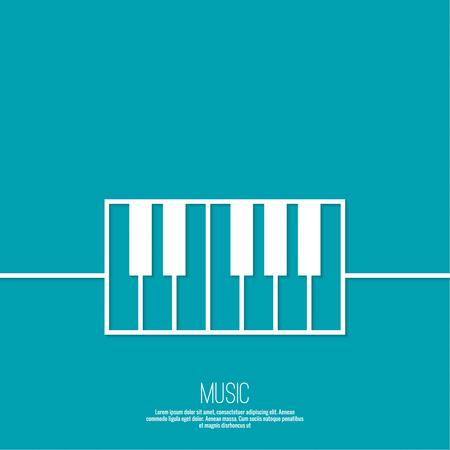 lineart: Icon piano keys. Vector symbol Lineart design Illustration