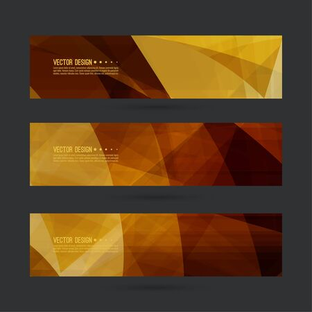 footer: Set of abstract vector banners, header. Luxury title. Layout footer design. Dynamics and movement in curves