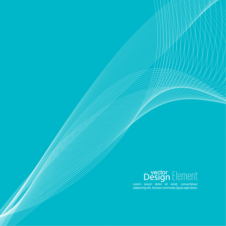curve: Abstract techno background with lines in waves. Technology, technical vector. Futuristic high tech design for scientific cover book, brochure, flyer, poster, magazine, website. Blue