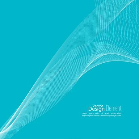 curvas: techno de fondo abstracto con las líneas en ondas. La tecnología, la técnica de vectores. diseño de alta tecnología futurista para libro de tapa científica, folleto, folleto, cartel, revista, página web. Azul