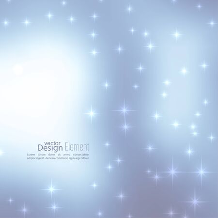 subtle background: Abstract blurred vector subtle background with  glare sparkle stars. For decorations for Merry Christmas, New Year, festivals, birthday, xmas, glamour holiday, illuminated, celebration Illustration