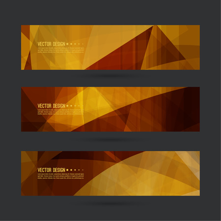 titles: Set of abstract vector banners, header. Luxury title. Layout footer design. Dynamics and movement in curves