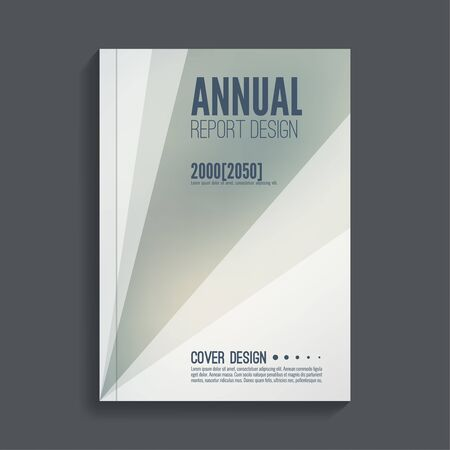 book vector: Brochure annual report. Cover for journal, book, magazine. Leaflet  Flyer template A4 size design. Layout  dj poster, booklet, postcard. Blurred background. Vector Illustration