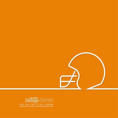 touchdown: Helmet American Football. Vector icon symbol line Illustration