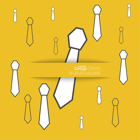 solid color: Abstract background with men tie. Icon of the tie. Cravat. Vector tie.  Flat design. Neck tie  solid color. Vector illustration for the cover, poster, magazine