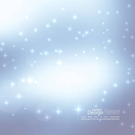 Abstract vector floue fond subtil avec des étoiles reflets sparkle. Pour les décorations pour Joyeux Noël, Nouvel An, fêtes, anniversaire, noël, glamour vacances, lumineux, célébration Vecteurs