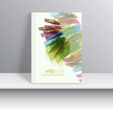 trellis: Magazine Cover with colored crystals, trellis structure.  For book, brochure, flyer, poster, booklet, leaflet postcard flier headline annual report vector Illustration