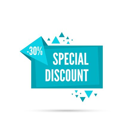 discount banner: Sale banner. Vector tag. special offer, discount price 30 percentage
