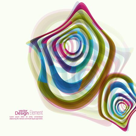 miscellaneous: Abstract background with colored Hypnosis shape. Deformed geometry torsion texture. Asymmetric waves in motion. Distortion effect. Colorful miscellaneous vector  backdrop. Optical illusion. Illustration