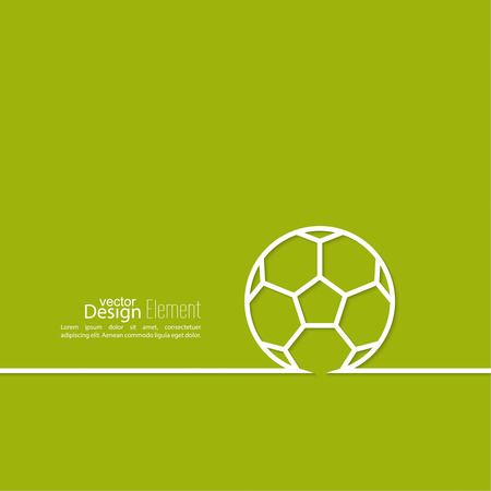 football: Vector icon of a soccer ball. football. Abstract background with vector image of a soccer ball in a thin line. layout for booklet, flyer, cover, preview, announcement, report.