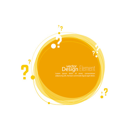 questionail: Question mark icon. Help symbol. FAQ sign on background. vector. Banner roundish form