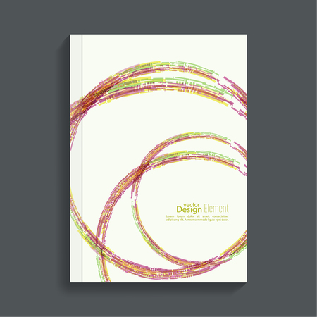 magazine cover: Cover for journal, magazine. Leaflet  Flyer template A4 size design. Layout for book, brochure, flyer, poster, booklet, leaflet, postcard flier headline annual report vector