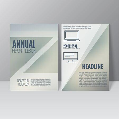 flier: Brochure annual report. Cover for journal, book, magazine. Leaflet Flyer A4 size template design. Layout illustration poster, booklet, postcard. Vector. title flier headline Illustration