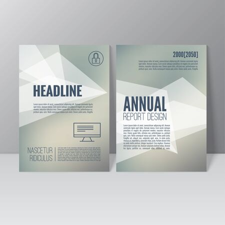 flier: Brochure annual report. Cover for journal, book, magazine. Leaflet Flyer A4 size template design. Layout illustration poster, booklet, postcard. Vector. title flier headline Illustration