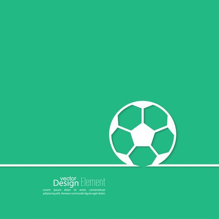 preview: Vector icon of a soccer ball. football. Abstract background with vector image of a soccer ball in a thin line. layout for booklet, flyer, cover, preview, announcement, report.