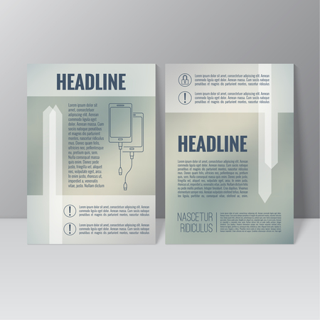 titles: Brochure annual report. Cover for journal, book, magazine. Leaflet Flyer A4 size template design. Layout illustration poster, booklet, postcard. Vector. title flier headline Illustration