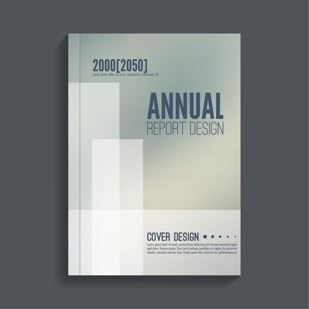 book design: Brochure annual report. Cover for journal, book, magazine. Leaflet  Flyer template A4 size design. Layout  dj poster, booklet, postcard. Blurred background. Vector Illustration