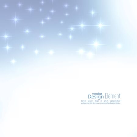 glint: Abstract blurred vector subtle background with  glare sparkle stars. For decorations for Merry Christmas, New Year, festivals, birthday, xmas, glamour holiday, illuminated, celebration Illustration