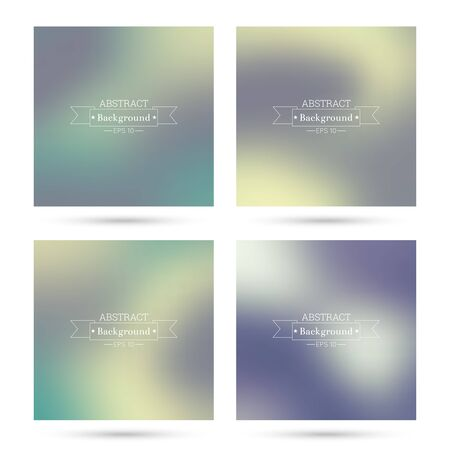 poster backgrounds: Set vector colorful abstract backgrounds blurred. For mobile app, book cover, booklet, poster, web sites, annual reports. blue, indigo, turquoise, yellow green purple mauve violet magenta Illustration