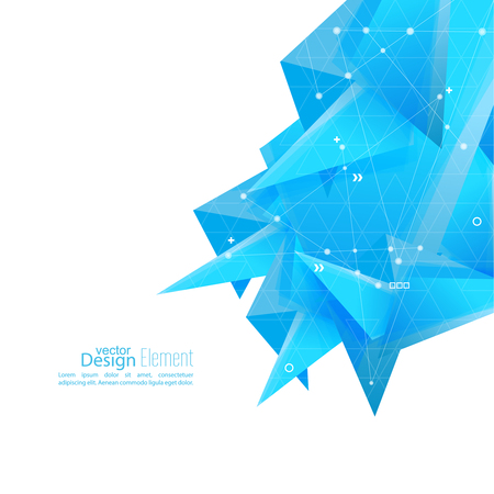 angled: Abstract background with geometric shapes angled. Concept new technology and dynamic motion. Digital Data Visualization. For cover book, brochure, flyer, poster, magazine, booklet, leaflet. vector