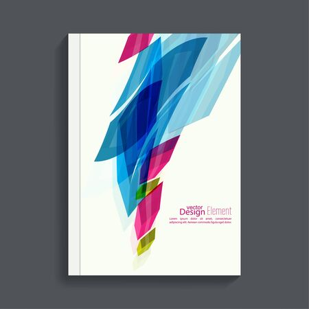trellis: Magazine Cover with colored crystals, trellis structure. For book, brochure, flyer, poster, booklet, leaflet, postcard flier headline annual report  journal vector Illustration