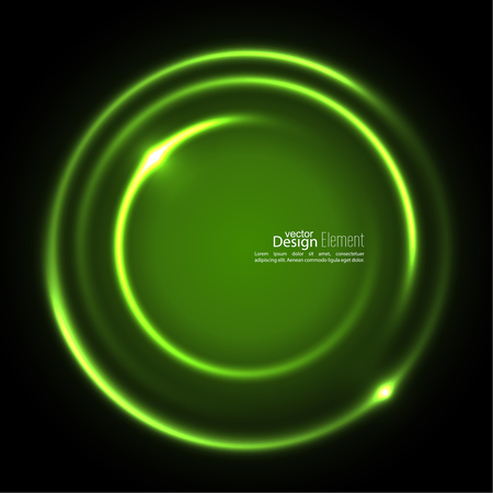 jade: Abstract background with luminous swirling backdrop. Intersection curves. Glowing spiral. The energy flow tunnel. Vector. green, jade, malachite, lime Illustration