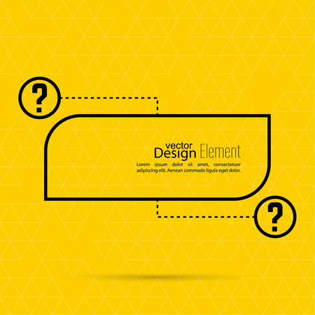 questionail: Question mark blank template. Help symbol. FAQ sign icon. Empty vector form.  information, text box, textbox on yellow background. Speech Bubbles.