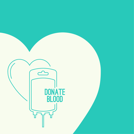 needy: Abstract background with blood bag. Icon donation  with heart. Vector image help the sick and needy. dropper with drop. Poster Illustration