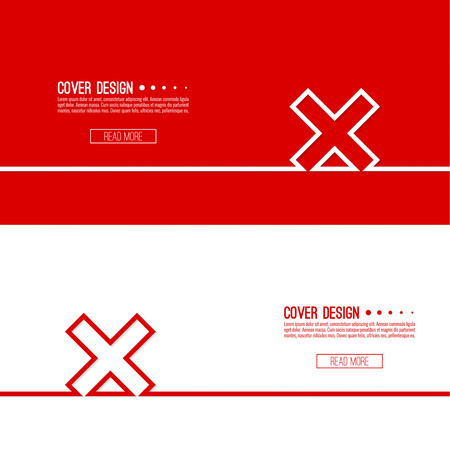 Set Vector  background with check marks, ticks, x. checkbox. Web and mobile applications. rejection and form of access denial, refusing. red. template, layout