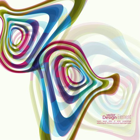torsion: Abstract background with colored Hypnosis shape. Deformed geometry torsion texture. Asymmetric waves in motion. Distortion effect. Colorful miscellaneous vector  backdrop. Optical illusion. Illustration