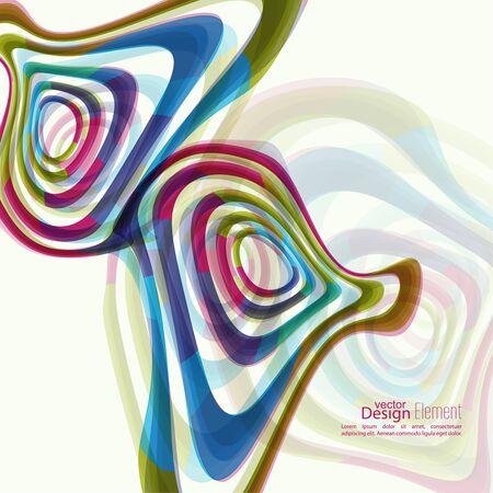 forme: Résumé de fond avec la forme de l'hypnose de couleur. Deformed texture géométrie de torsion. ondes asymétriques en mouvement. effet de distorsion. Colorful divers toile de fond de vecteur. Illusion d'optique.