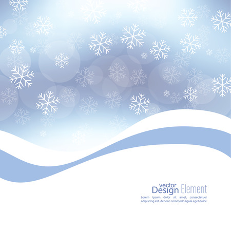 gleam: Gentle soft winter abstract background with falling scatter snowflakes, ice crystals and sparkles, glint, twinkle. Elegant blurry backdrop for festive decoration. Vector. Illustration
