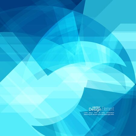 dynamic motion: Abstract background with blue chaotic stripes corner. Concept new technology and dynamic motion. Digital Data Visualization. For cover book, brochure, flyer, poster, magazine, booklet, leaflet