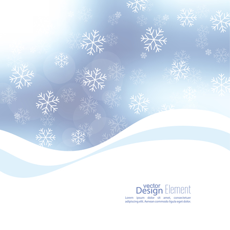rime: Gentle soft winter abstract background with falling scatter snowflakes, ice crystals and sparkles, glint, twinkle. Elegant blurry backdrop for festive decoration. Vector. Illustration