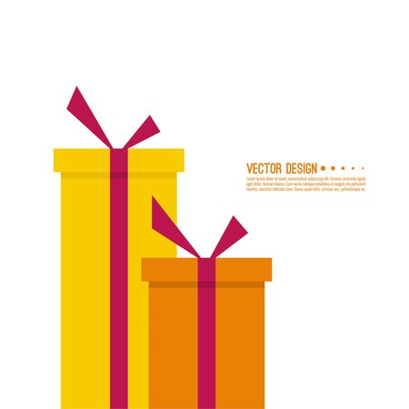 holiday gifts: Festive abstract background with boxes of gifts. Surprise and bright holiday gift. Vector Illustration