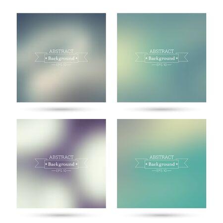 fondos violeta: Conjunto de vectores coloridos fondos abstractos borrosos. Para la aplicación móvil, de libro, folleto, cartel, sitios web, informes anuales. azul, añil, turquesa, amarillo, verde malva púrpura violeta magenta Vectores
