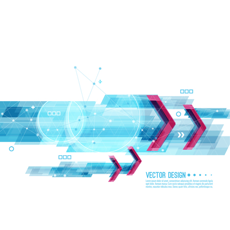 Abstract background with blue stripes corner. Concept new technology and dynamic motion. Digital Data Visualization. For cover book, brochure, flyer, poster, magazine, booklet, leaflet Illustration